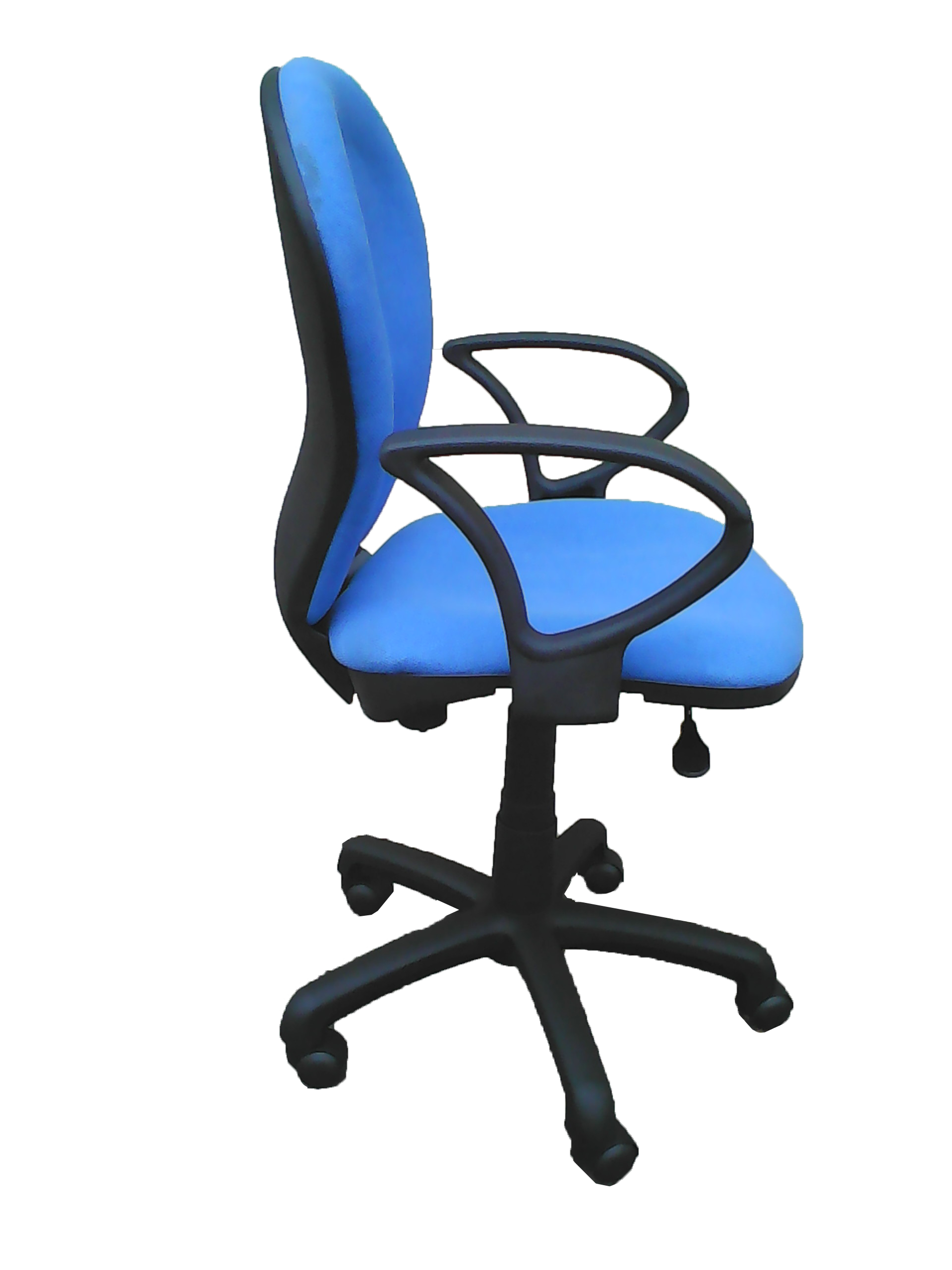 Sg821h Blue Secretary Office Chair Side